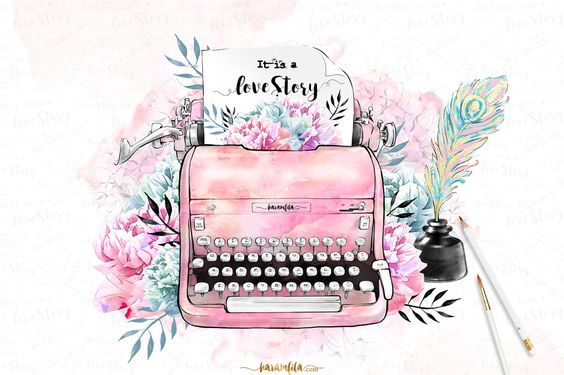 Typewriter Clipart by Karamfila on @creativemarket
