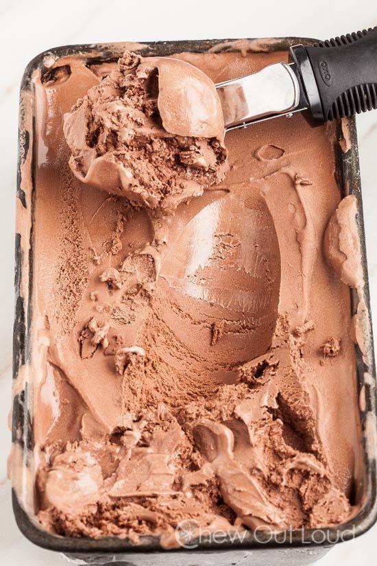 Easy Chocolate Ice Cream (no eggs) - Easy, Simple 6-ingredient rich chocolate ice cream!