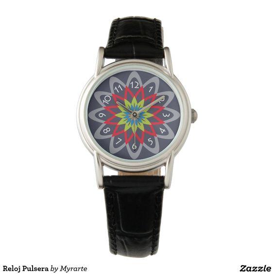 Reloj de pulsera. Producto disponible en tienda Zazzle. Accesorios, moda. Product available in Zazzle store. Fashion Accessories. Regalos, Gifts. Link to product: http://www.zazzle.com/clock_bracelet_wrist_watch-256785717107297510?CMPN=shareicon&lang=en&social=true&rf=238167879144476949 #reloj #watch #flores #flowers