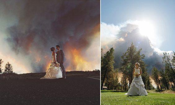 Acredite: o cenário dessas fotos de casamento não foi planejado
