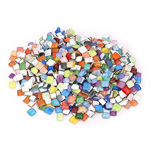 35 99 Errollina 1kg Mosaic Tiles Glass Mixed Colors Shapes