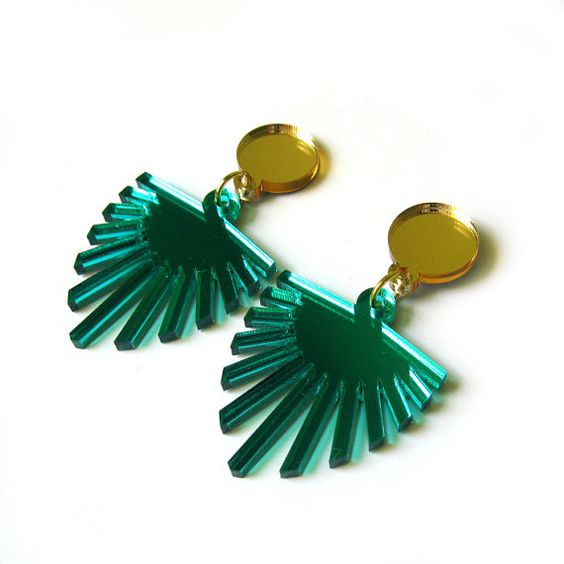 PALM Statement Earrings  Palm earrings Leaf earrings by FabParlor, $22.00: