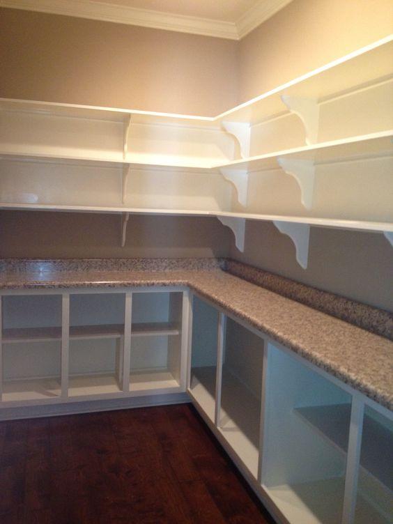 Walk in pantry my properties pinterest countertops for Walk in kitchen pantry