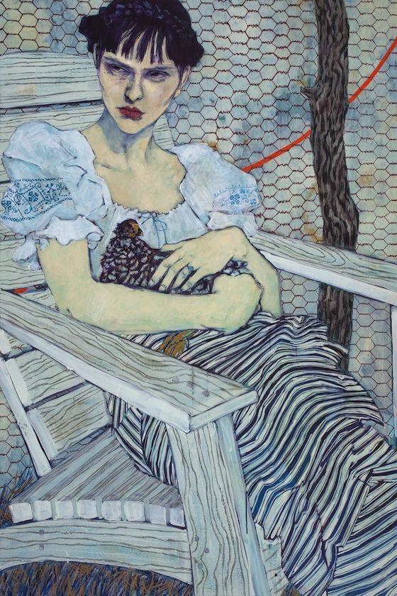 Hope Gangloff - Study of Olga Alexandrovskaya, 2012. Acrylic/canvas, 72 x 48 in.
