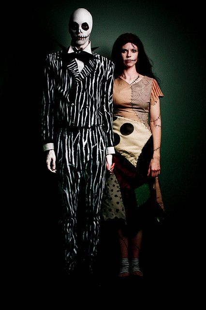 self-portrait as Jack & Sally from the Nightmare Before Christmas by Jesse Draper, via Flickr: