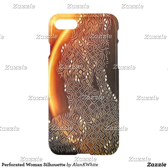 Perforated Woman Silhouette iPhone 7 Case