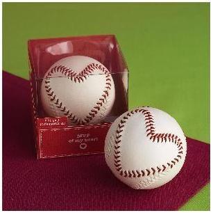 baseball heart wedding favor or decoration