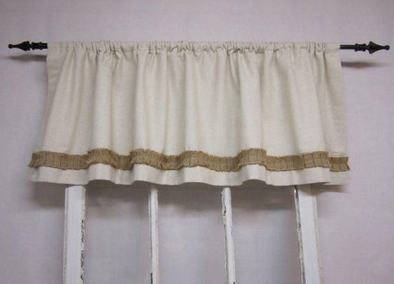 Curtains Ideas cream burlap curtains : Burlap curtains, Valance, window valence, curtain, cream colored ...