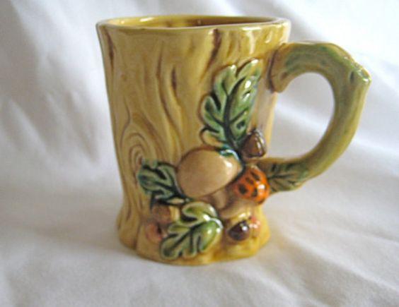 Woodland coffee or tea mug -Lefton 1970
