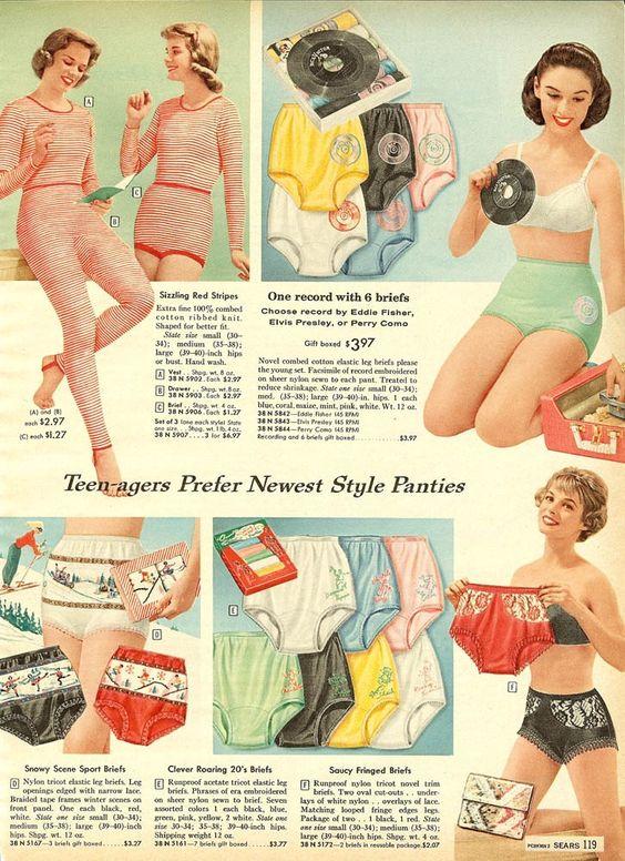 Aldens Catalog 1954 #jukebox #undies #vintage #retro #lingerie ...