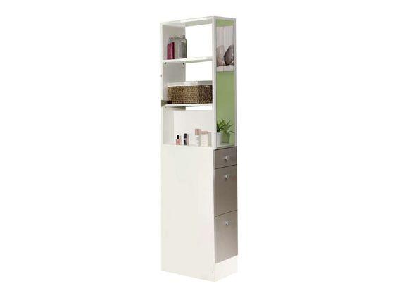colonne de sparation esther coloris blanctaupe vente de armoire colonne tagre - Etagere Conforama