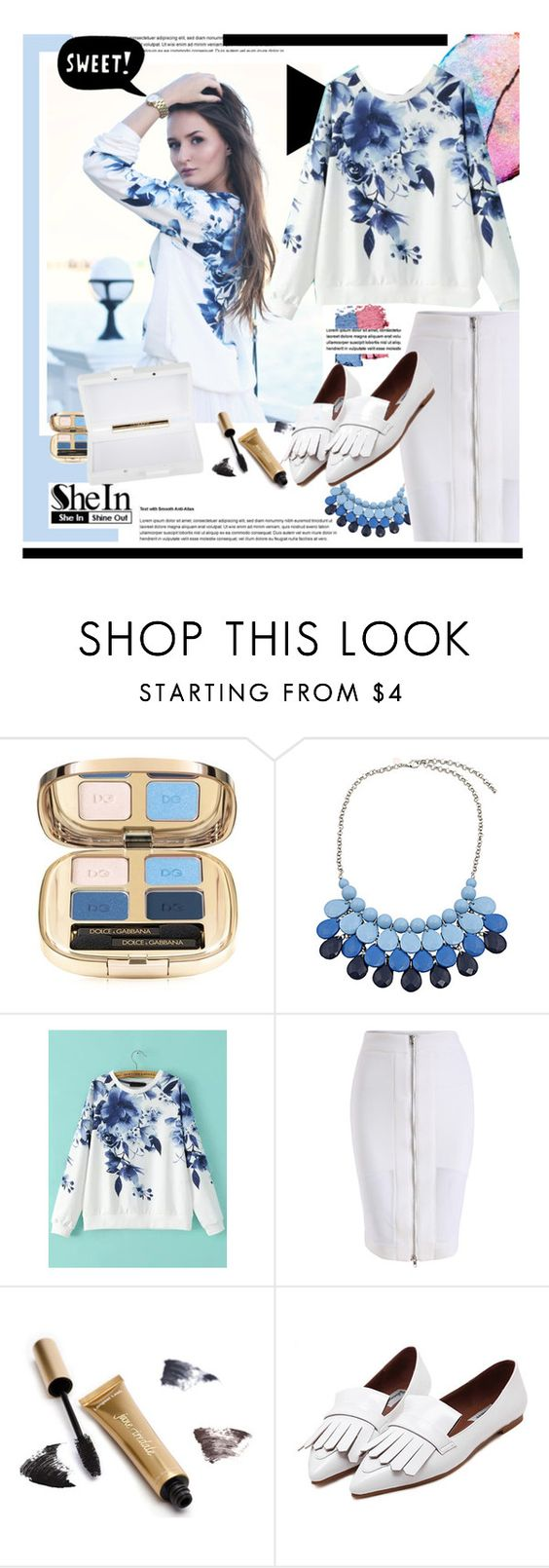 """""""Style with Sheinshide.com"""" by hamaly ❤ liked on Polyvore featuring Dolce&Gabbana, Chicnova Fashion, Jane Iredale, ESPRIT and Urania Gazelli"""