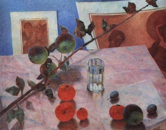 Розовый натюрморт. 1918. Петров-Водкин Кузьма Сергеевич (1878-1939)