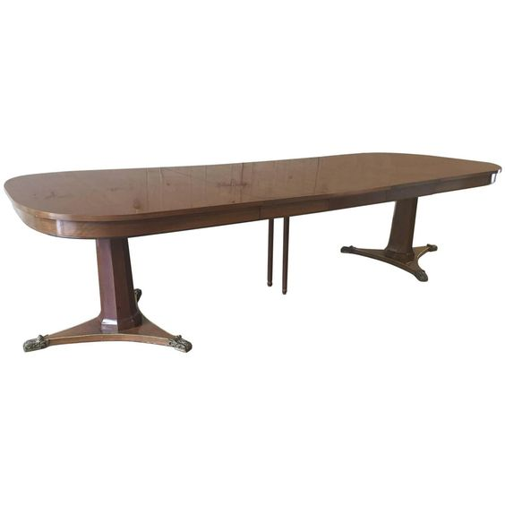 Large Dining Room Table by Baker | From a unique collection of antique and…