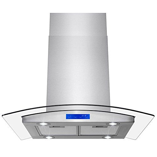 Firebird 30 Stainless Steel Tempered Glass Led Display T Https Www Amazon Com Dp B019zzphg2 Ref Cm Sw R Pi Range Hood Stainless Steel Island Kitchen Vent