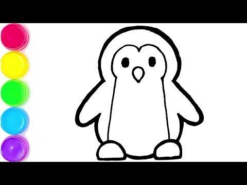 Desenhando E Pintando Como Desenhar Um Pinguim Youtube