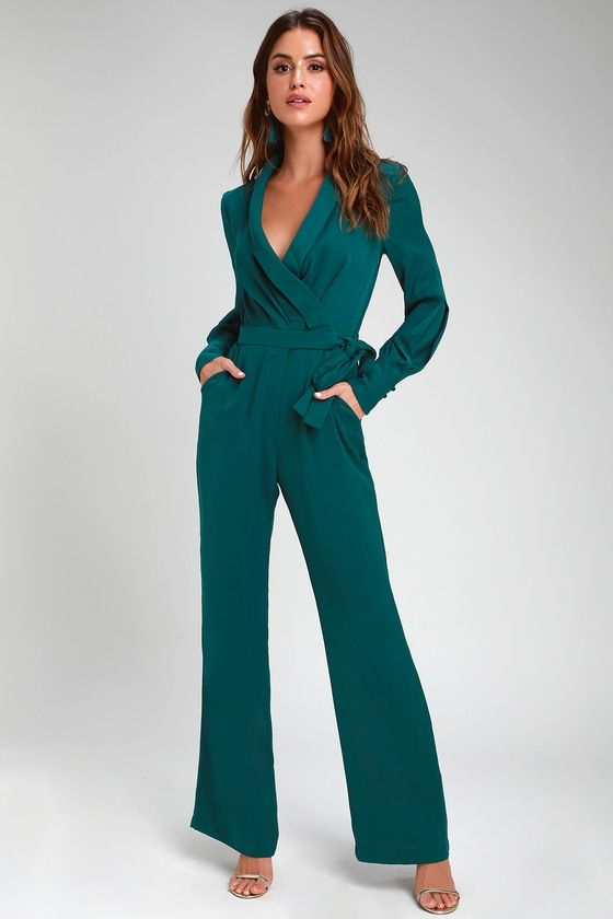 Emerald Green Pantsuit Womens