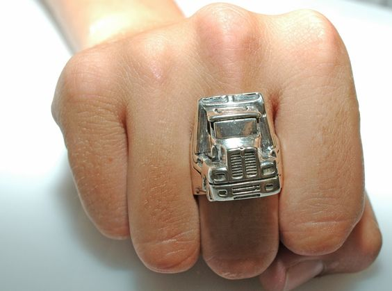 The Mutha Trucker Ring by hioctanejewelry on Etsy, $65.00