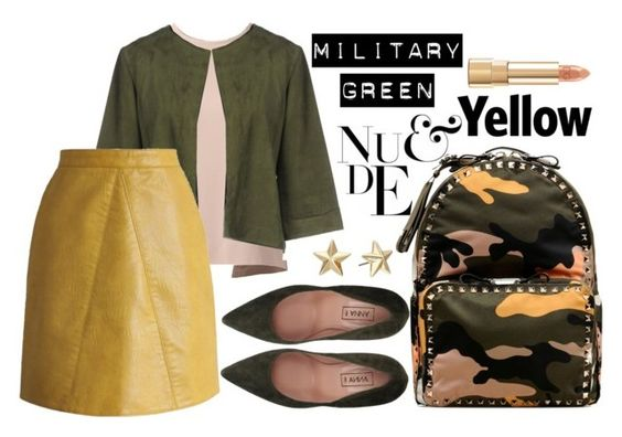 """""""military chic"""" by ailav9 ❤ liked on Polyvore featuring Mode, Anna F., MSGM, Nina, Chicwish, Valentino, Rebecca Minkoff und Dolce&Gabbana"""