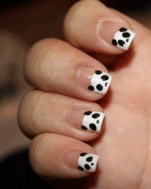 Panda - DIY nail art designs