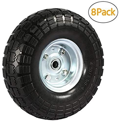 Enjoy Exclusive For Yaheetech Solid Wheelbarrow Tires Sack Truck Cart Wheel 5 8 Inch Bearings Wagon Lawn Garden Beach Trolley 4 8 12 Pack 10 Inch 8 Online In 2020 Wheelbarrow Tires Garden Wagon Wagon Cart