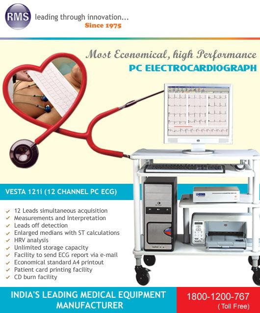 Rms Is Leading Manufacturer Of Cardiology Equipments Like Tele Ecg Ecg Machines In India We Have Complete Range Of Ekg Machines W Led Manufacturers Rms Vesta