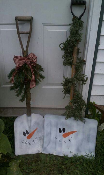 Shovel Snowman And Thrift Stores On Pinterest