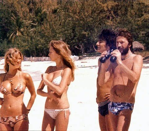 Krissy Wood, Ronnie Wood, Pattie Boyd, and Eric Clapton ...