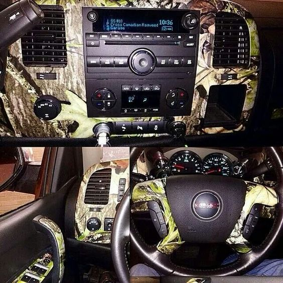 gmc camo trucks pinterest the o 39 jays interiors and camouflage. Black Bedroom Furniture Sets. Home Design Ideas
