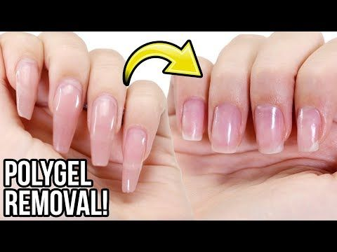 Remove Polygel Nails Step By Step How To Tutorial Youtube Polygel Nails Gel Nails Nail Tutorials