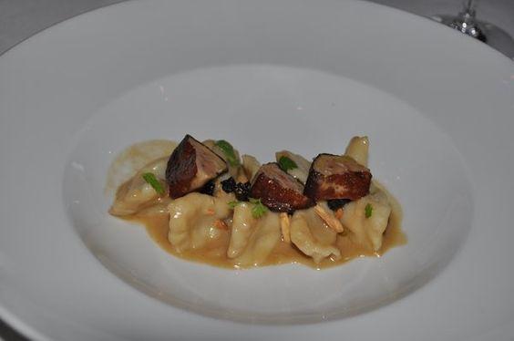 prune-stuffed gnocchi with foie gras and vin santo; No. 9 Park, Boston, MA