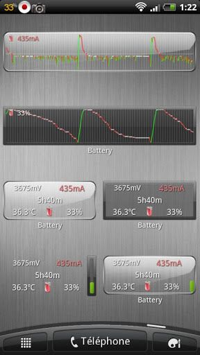 Battery Monitor Widget Pro v2.6.12  Requirements: Android 1.5 and up  Overview: Complete battery monitoring with notification icon, history, graphics and alarms
