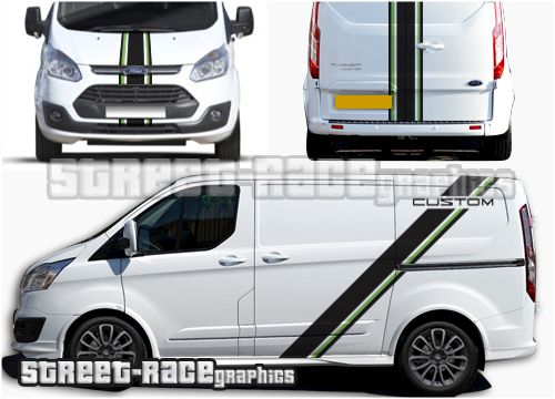 Transit Custom Sport Racing Stripes Transit Custom Ford Transit Vans Stickers