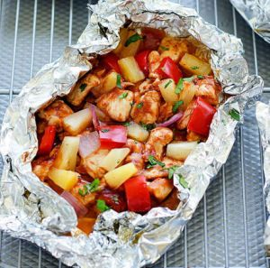 Peppers And Potatoes Chicken Foil Pack Meal