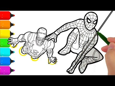 Spider Man And Iron Man Coloring Pages Youtube Spiderman Coloring Superhero Coloring Pages Coloring Pages
