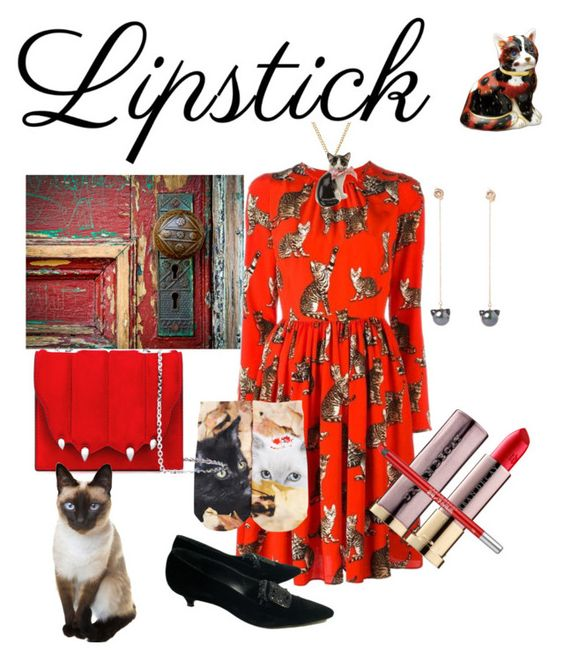 """""""#redlip"""" by kelly-haven-russell on Polyvore featuring Urban Decay, Dolce&Gabbana, Free Press, Manolo Blahnik, Royal Crown Derby, Marco de Vincenzo and Sabina Kasper"""