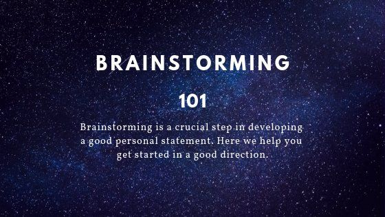 How To Brainstorm An Effective Personal Statement Topic Lawschooli Law School Astronomy Physic And