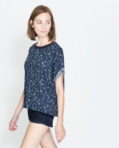 FLORAL PRINT T - SHIRT - T - shirts - TRF | ZARA United States