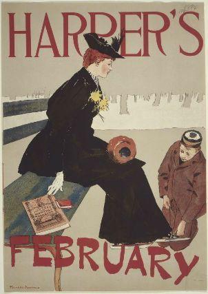 Edward Penfield, Harper's, February 1894 (skating,) 1894.