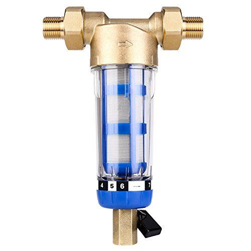 Water Pre Filter System Reusable Spin Down Sediment Water Filter 40 Micron Fit For 1 Water Softener Sediment Water Filter