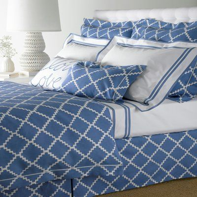 Coral, Ocean, or Honeydew Graphic Zig Zag Cotton Linen Bedding - Chant by Lulu DK for Matouk.  http://www.jbrulee.com/pd-graphic-zig-zag-cotton-linen-bedding---chant-by-lulu-dk-for-matouk.cfm