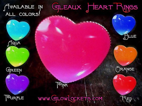 Heart Shape Glow in the dark Gleaux Ring