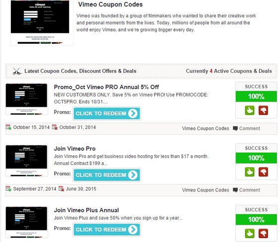 Average saving discount 45 with vimeo coupon codes 2017 2018 or average saving discount 45 with vimeo coupon codes 2017 2018 or promo code at promocodebuzz pinterest fandeluxe Image collections