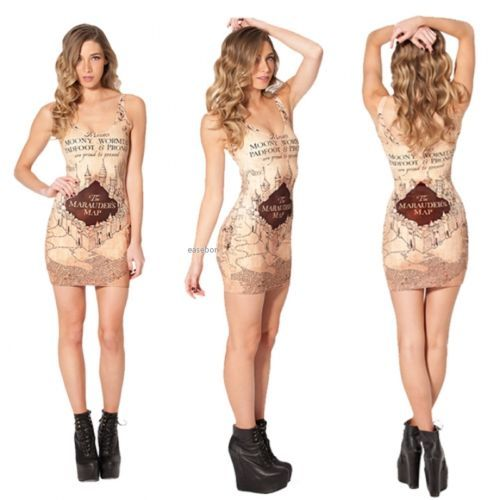 Harry potter marauders map #dress #bodycon #dress / galaxy milk / #fantasy new ea,  View more on the LINK: http://www.zeppy.io/product/gb/2/351750361116/