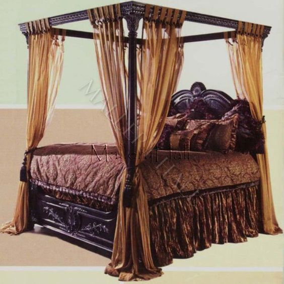 Curtains Ideas black canopy curtains : Canopy Beds for Adults | black canopy beds old world egyptian ...