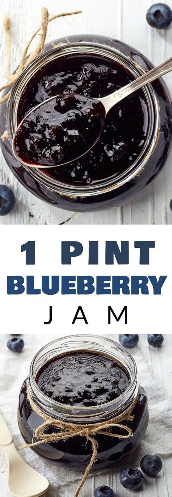 1 Pint Blueberry Jam