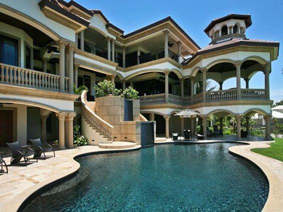 maison de luxe naples en floride luxury house in florida id es maison pinterest future. Black Bedroom Furniture Sets. Home Design Ideas