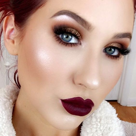 Ideas de maquillaje para vestido rojo