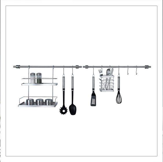 Kit de cr dence suspendre factory pour cuisine pour for Kit ustensiles cuisine