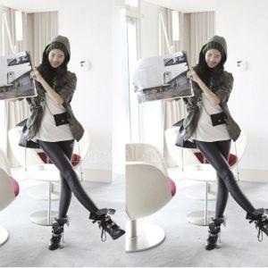 Sexy Wet Look noir simili-cuir Leggings tregging pantalon collants brillants